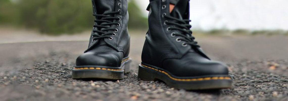 boots en cuirs Dr Martens