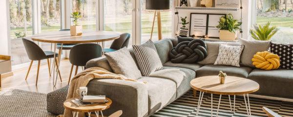 Un canapé d'angle
